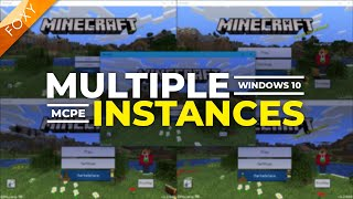 How to Run Multiple Instances of MCPE | Minecraft Bedrock Edition | WINDOWS 10