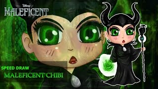Speed Drawing Maleficent Chibi ™ [Maleficent•Walt Disney]