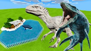 MCPE: How To Make a MOSASAURUS & INDOMINUS REX FARM in Minecraft PE