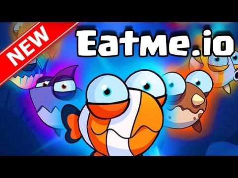 Eatme.io EPIC AGAR.IO WITH FISH TROLLING TRICK SPLITTING FISH!! | Brand New Eatme.io Gameplay IOS!