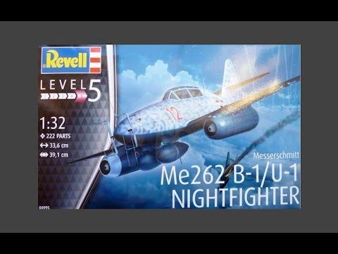 Revell 1/32 Me 262 B-1/U-1 Nightfighter Inbox Review