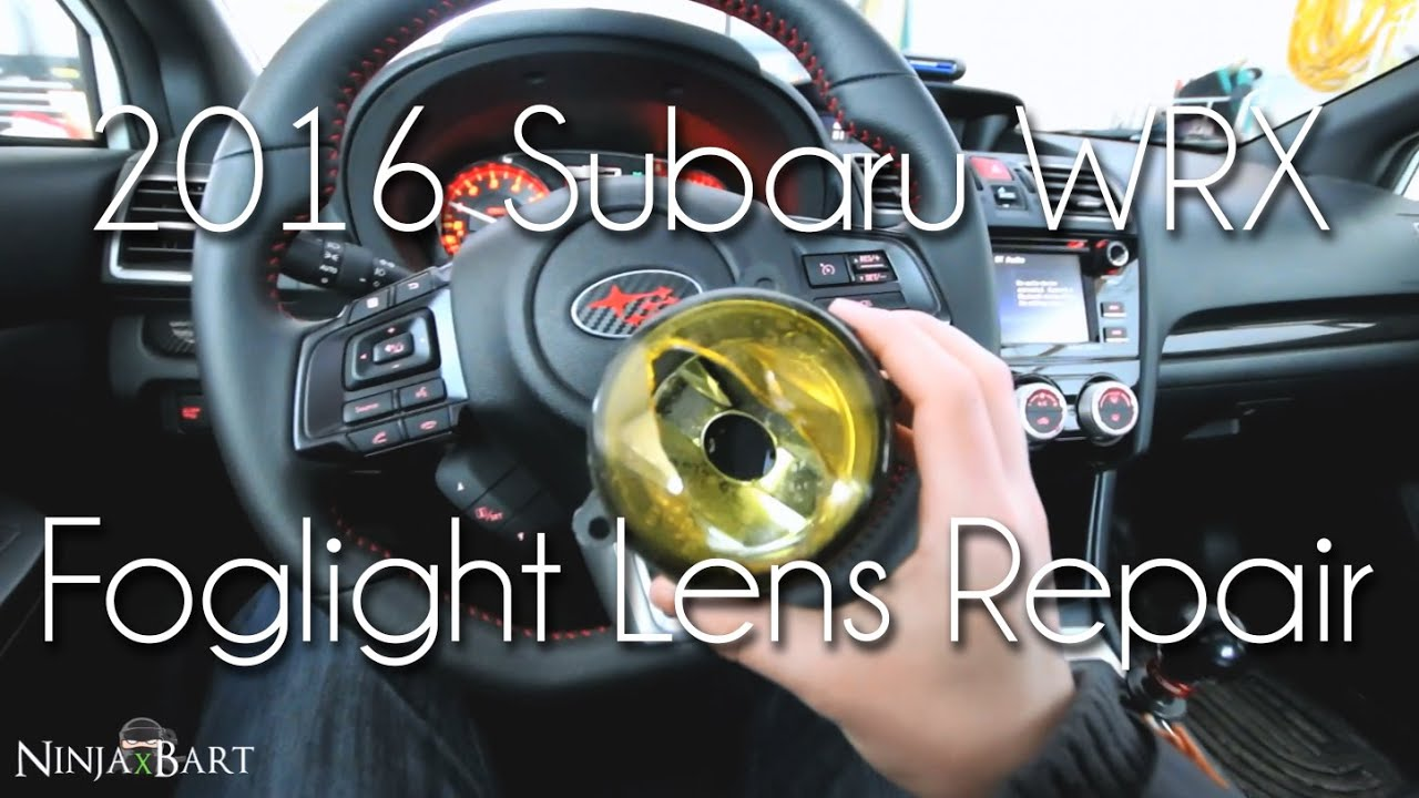 Broken (Glass) Foglights!! Lexan Lens Replacement (2016 Subaru WRX)