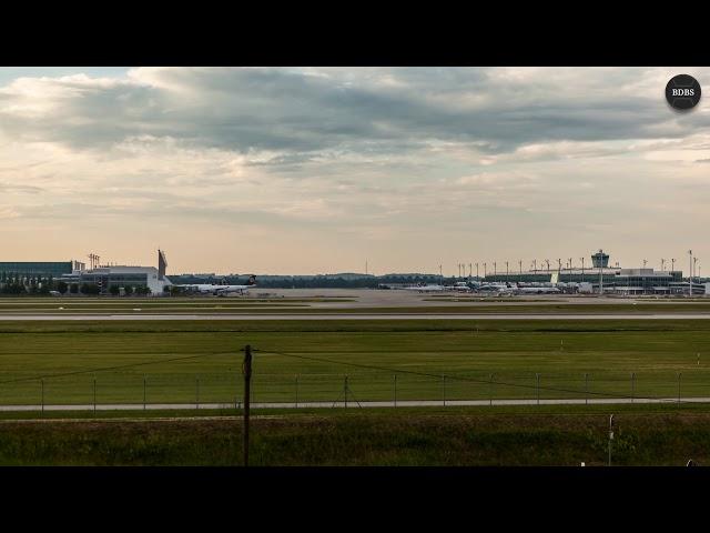 Zeitraffer vom Müncher Flughafen