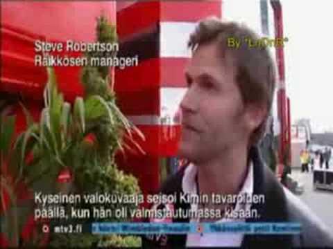 Kimi Raikkonen and Photographer dispute, MTV3 Interviews
