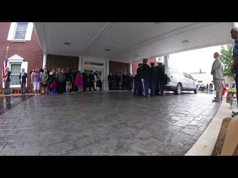 Sgt. Jonathon M. Hunter: Motorcade arrives at funeral home