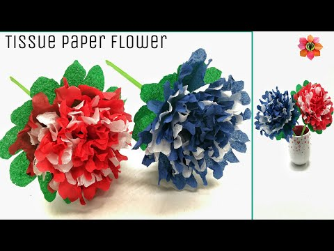 Beautiful Flowers from  Tissue Papers - DIY Tutorial - 69