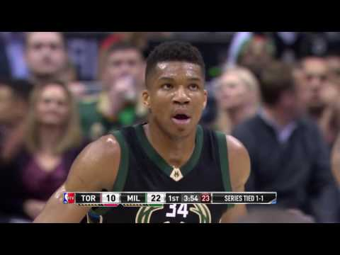 Giannis Antetokounmpo, Greg Monroe, and Khris Middleton Lead Bucks Past Raptors | April 20, 2017