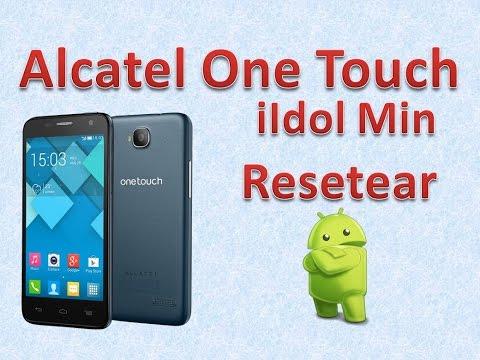 Alcatel One Touch Idol Mini Resetear a modo fábrica