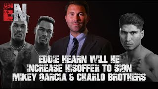 Eddie Hearn Will He Increase His Offer To Sign Mikey Garcia & Charlo Brothers | EsNews Boxing