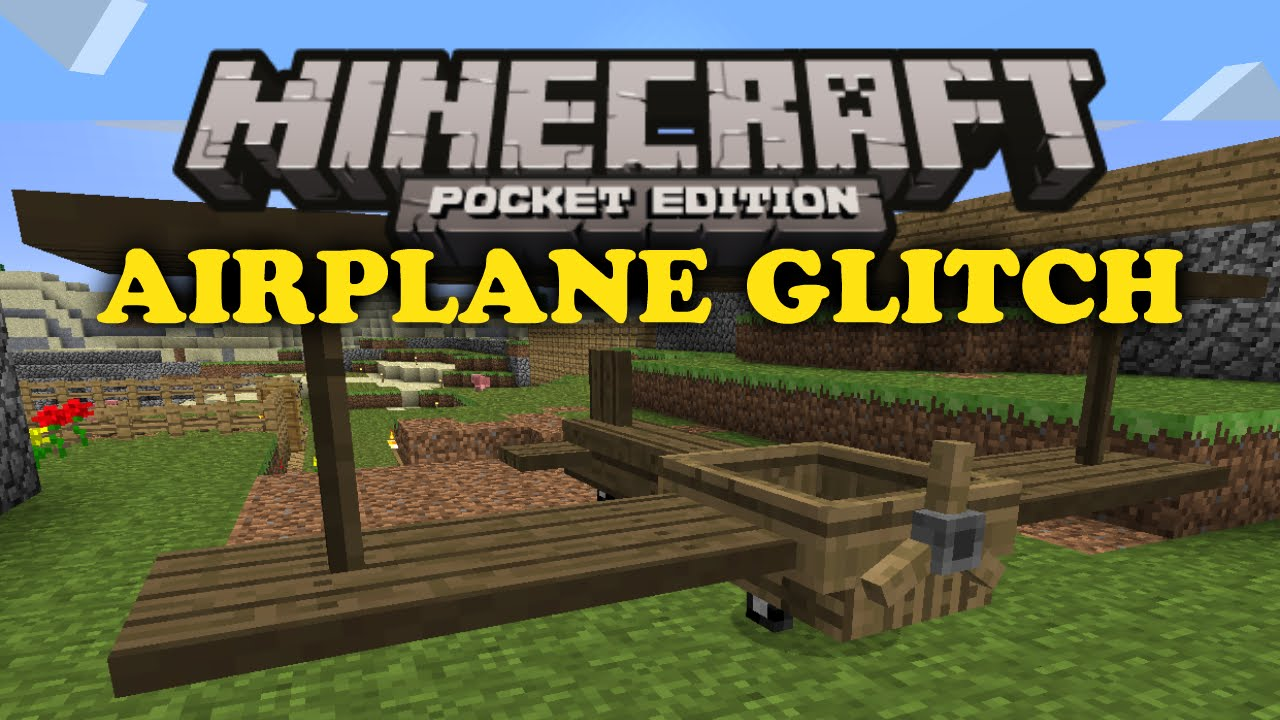 how to build a airplane in minecraft pe