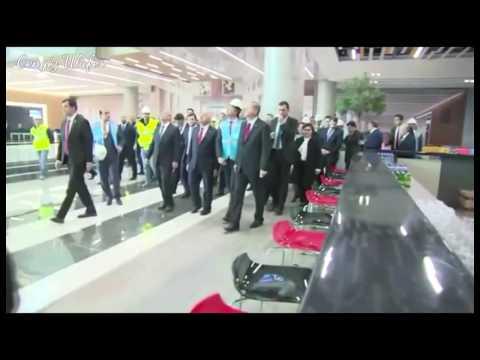 Recep Tayyip Erdoğan 3. Havalimanını Denetliyor