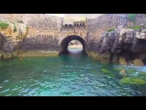 Peniche Portugal by drone view