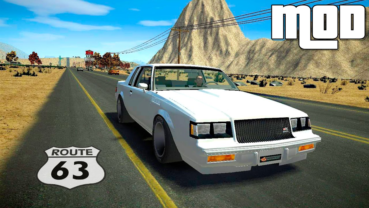 grand theft auto iv route 66 a huge map mods for gtaiv. Black Bedroom Furniture Sets. Home Design Ideas
