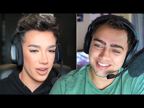 Mizkif meets James Charles in Minecraft thumbnail