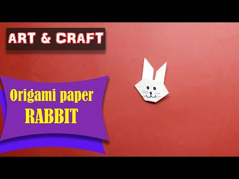 DIY  How to make an origami paper Rabbit || Art & Craft || Open Mind 🎊