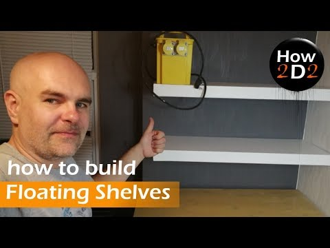 How to build and attach to the wall floating shelves MDF floating shelf fitting building attaching