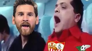 ملخص مباراة برشلونة و اشبيلية 5-0 بشكل كوميدي | جوا الملعب