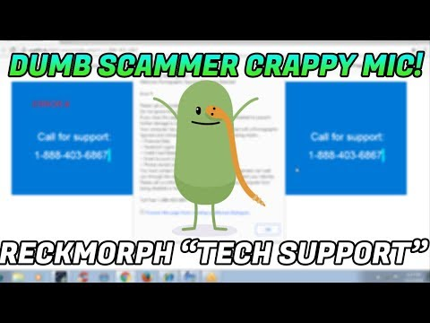 Tech Support Scam / Dumb scammer has horrible mic! - 1-888-403-6867 - www.reckmorphincorporation.com