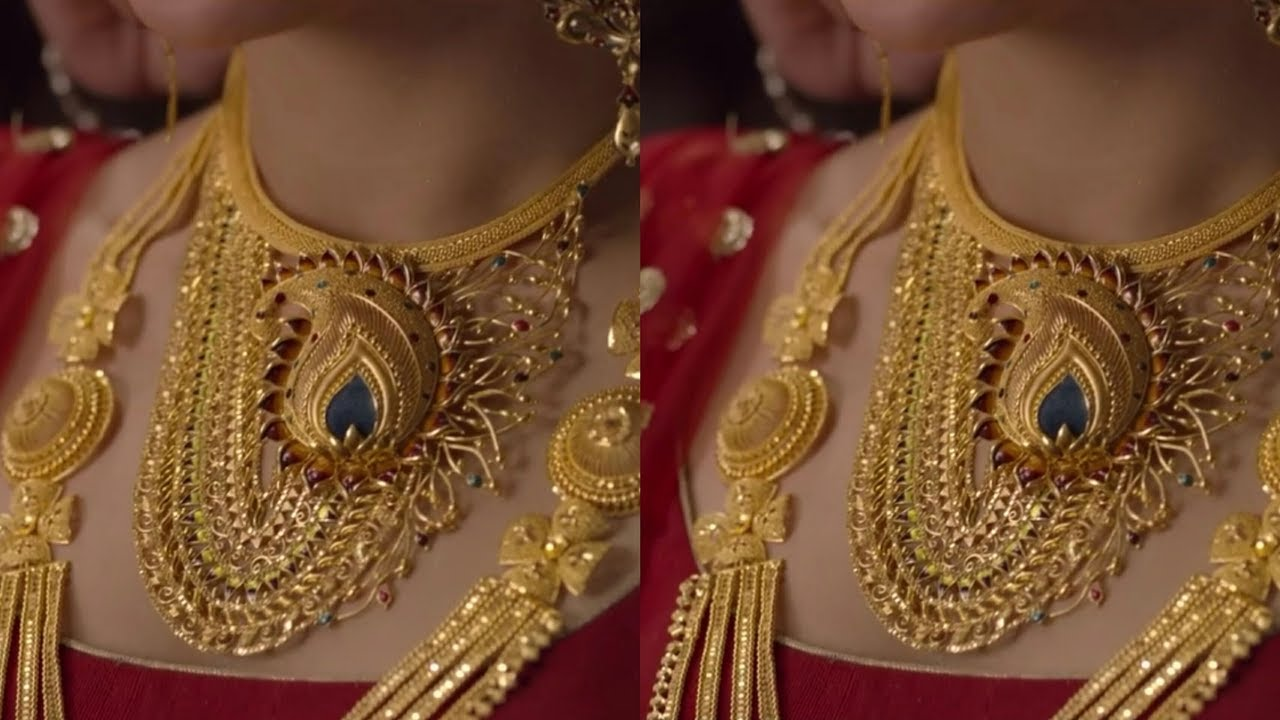 gold jewellery wedding collection from pcchandra