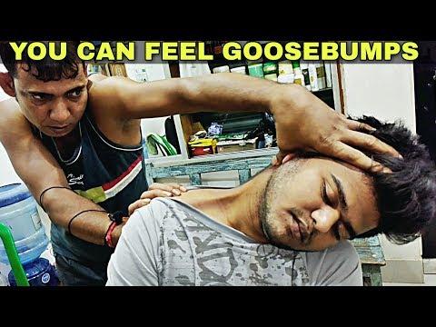 Amazing hair cracking Indian head and body massage | neck cracking ASMR