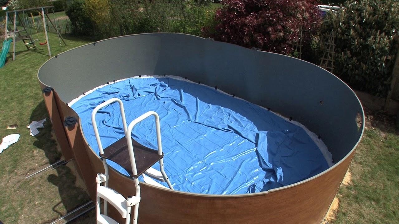comment installer une piscine hors sol installation du liner etape 4 6