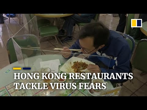 Hong Kong restaurants fight coronavirus with 'hygiene ambassadors' and table partitions