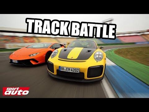 Porsche 911 GT2 RS vs Lamborghini Huracán Performante Track Battle sport auto