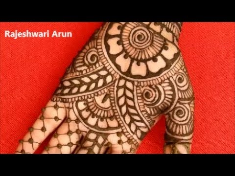 simple karva chauth mehndi design