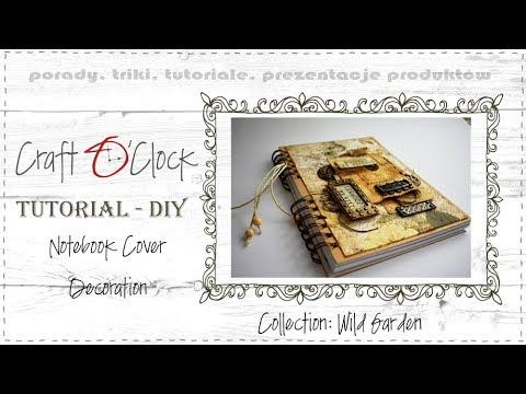 TUTORIAL DIY: Notebook Cover Decoration - collection Wild Garden thumbnail