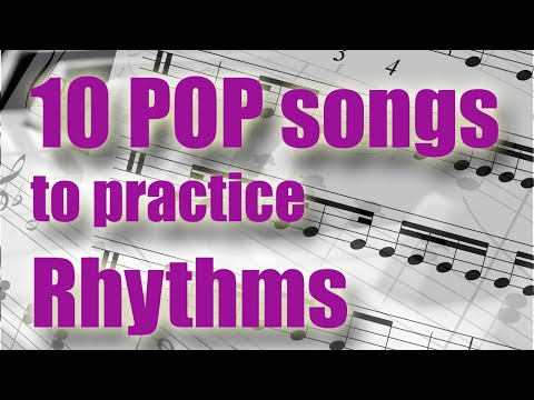 10 Pop Songs To Practice Rhythms And Syncopation (Intermediate Difficulty)