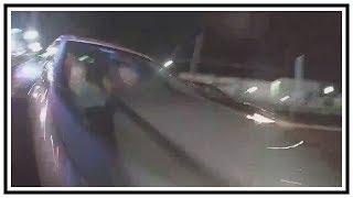 Close Call For Burlington Township Police Officer   Dash Cam   United States   20190414