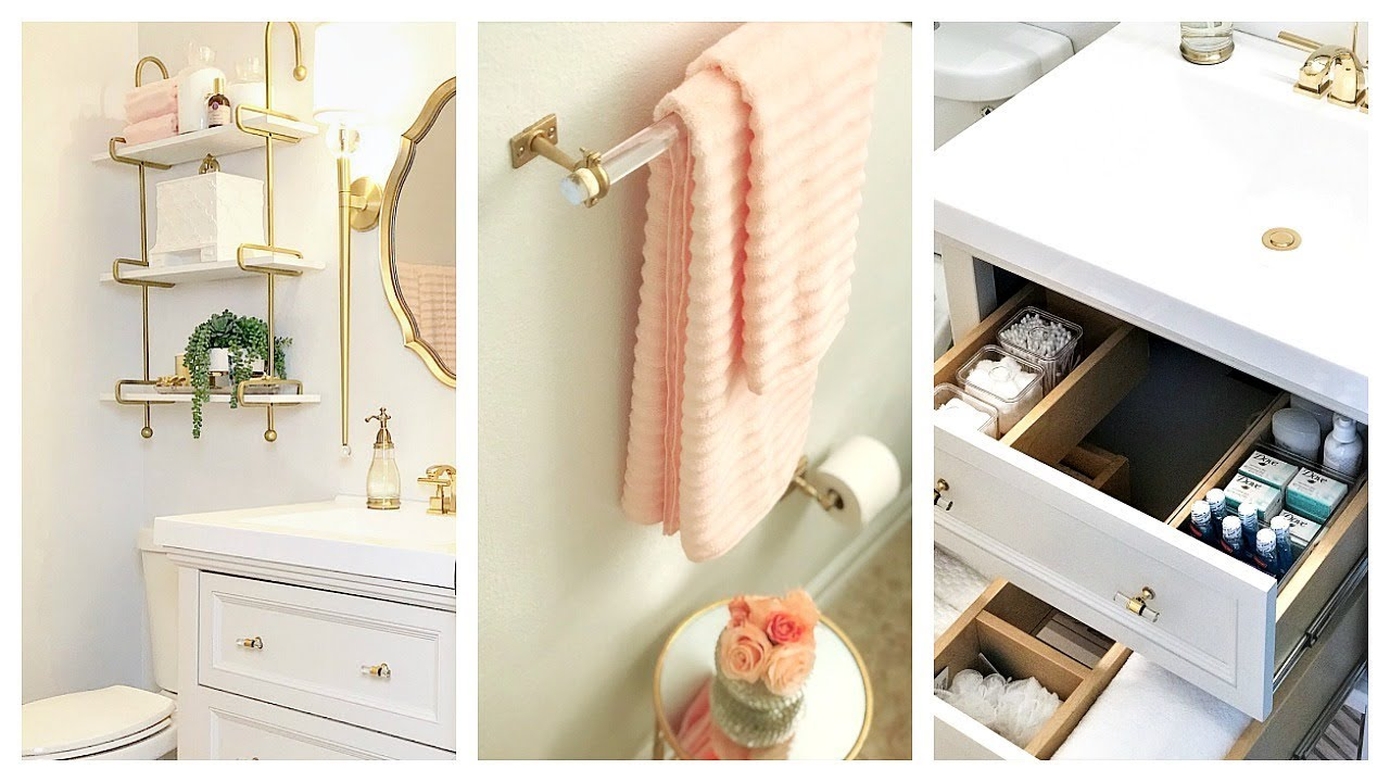 Small Guest Bathroom Makeover & Tour | Before And After - YouTube