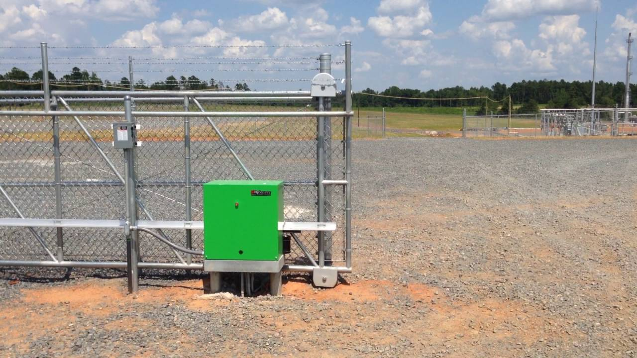 Hysecurity slide driver gate opener industrial facility