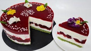 ТОРТ без выпечки МАЛИНОВЫЙ МУСС no bake cake raspberry mousse