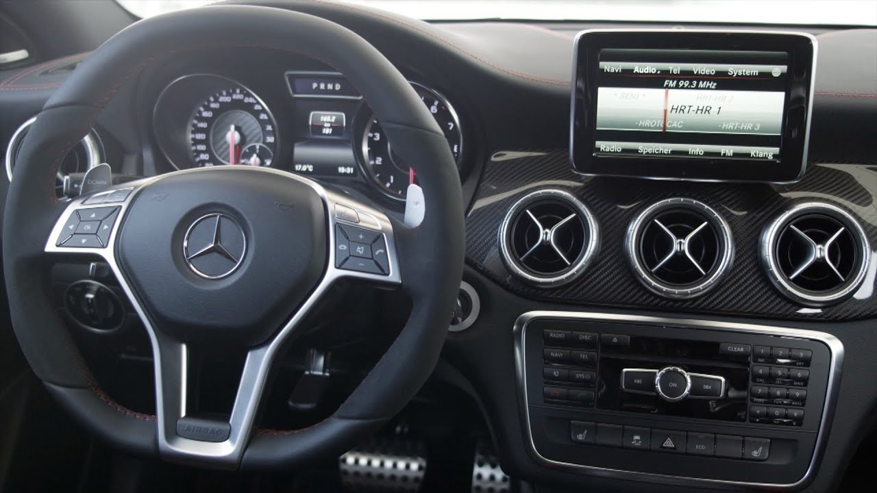 Mercedes CLA 45 AMG   INTERIOR   YouTube