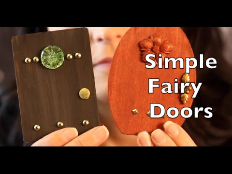 Diy how to make a fairy door craft idea tutorial youtube How to make a fairy door out of clay