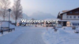 Wintercamping mit dem T@B im Allgäu - Camping Brunnen 2013 und 2014
