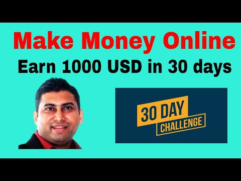 30 Days Challenge to Earn 1000 USD in Affiliate Marketing Business - Make Money Online thumbnail