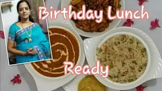 Birthday Lunch Combo/4 Special  Dishes/potato gravy/baby corn manjurian/peas pulao/rava kesari