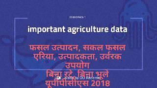 E1: Agriculture India / कृषि भारत