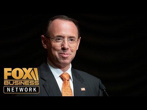 Deputy AG Rod Rosenstein submits resignation to Trump