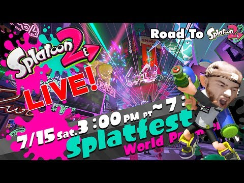 [🔴LIVE] 🦑Splatoon 2 SPLATFEST World Premiere! - Ice Cream VS Cake! #TeamIceCream🦑