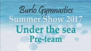 Burlo Gymnastics, Summer Show 2017, Under the sea, Pre-team