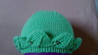 ВЯЗАНИЕ СПИЦАМИ!КРАСИВАЯ ДЕТСКАЯ ШАПОЧКА!Просто связать даже начинающим.Knitting