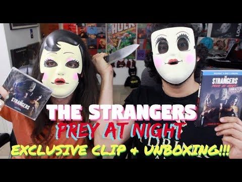 THE STRANGERS: PREY AT NIGHT Mask Unboxing & EXCLUSIVE Clip!!!