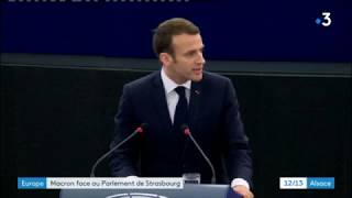Europe : ce qu'il faut retenir du discours d'Emmanuel Macron au parlement de Strasbourg