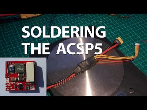 HOW TO: Solder the ACSP5 PixRacer PSU/Current/Voltage Sensor Board