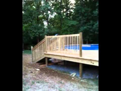 24 Above Ground Pool and Custom Deck Project  Slideshow from start to finish  YouTube
