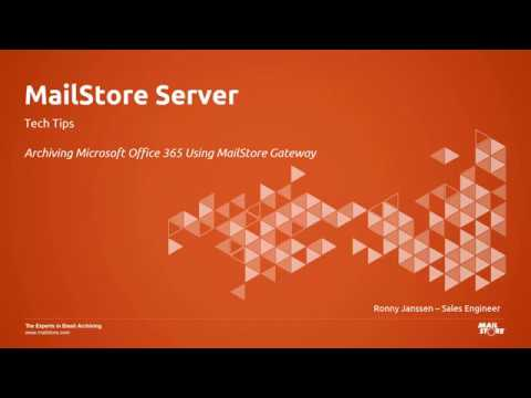 Tech Tips: Archiving Microsoft Office 365 Emails With MailStore Server