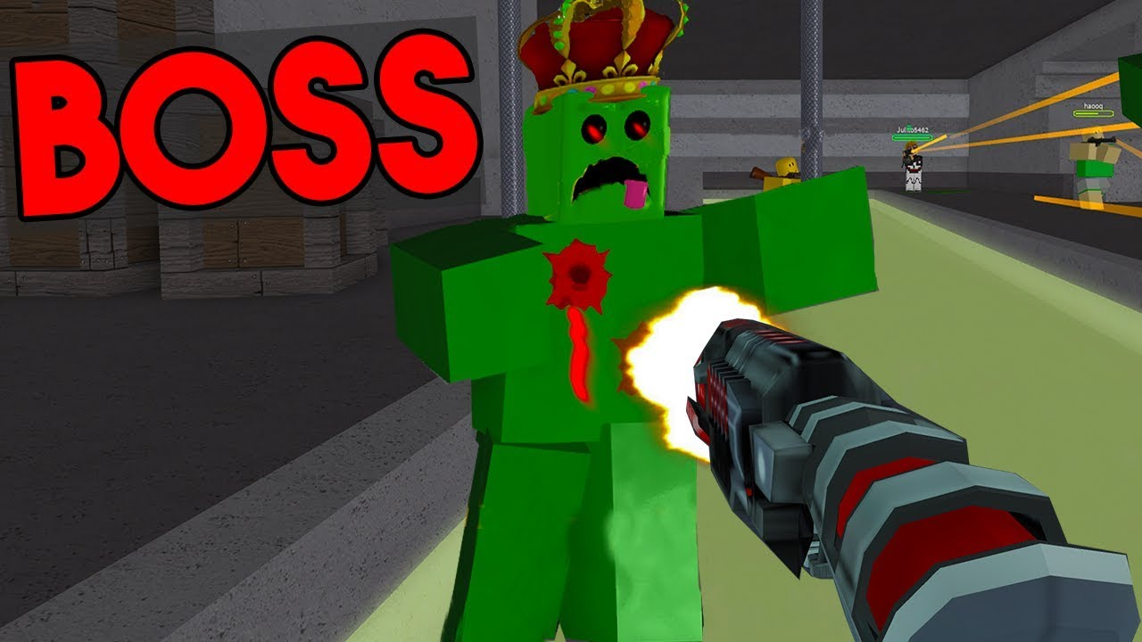 Amazing Gun Kills Boss In Seconds Roblox Zombie Attack Youtube - roblox zombie attack codes